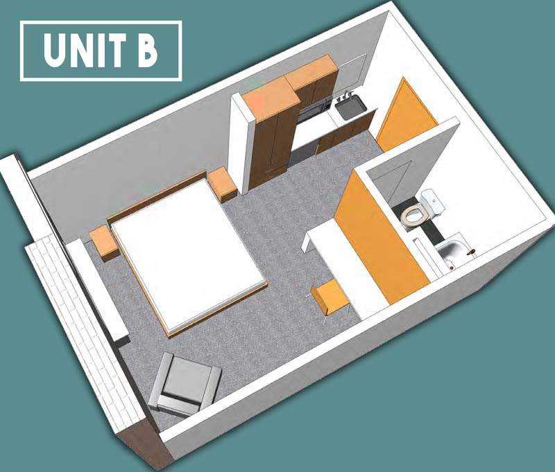 Unit B Floor Plan - 228 Spaces