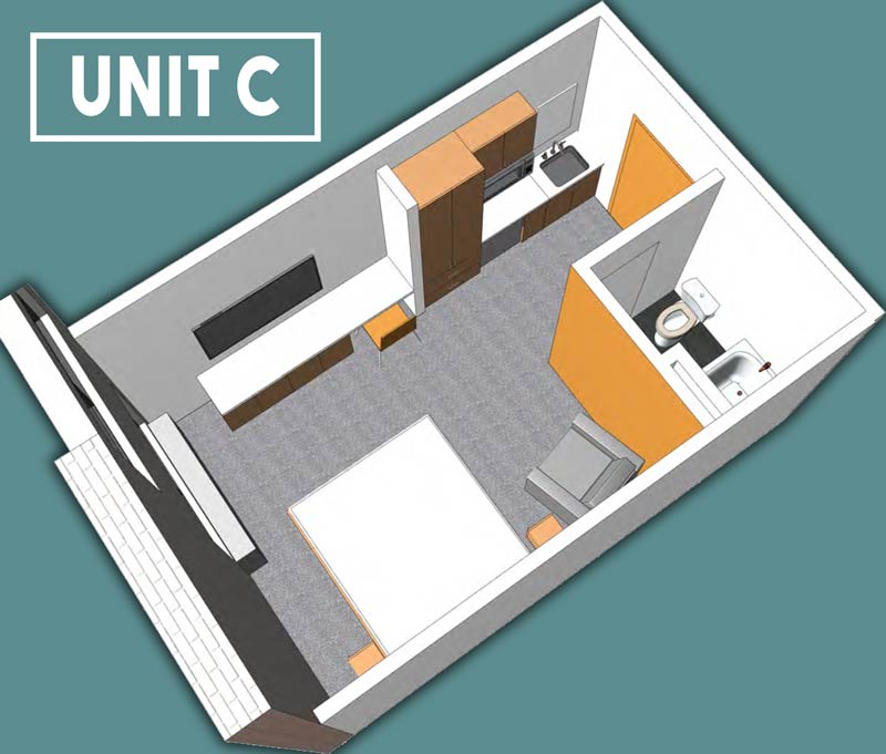 Unit C Floor Plan - 228 Spaces